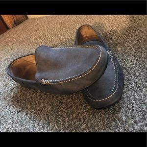 Polo Leather driver loafer in blue Size 16.
